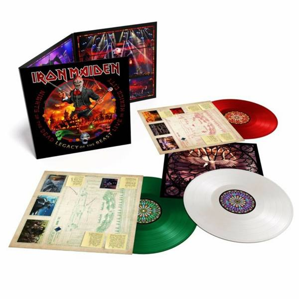 IRON MAIDEN Nights Of The Dead, Legacy Of The Beast: Live In Mexico (Mexican Flag Triple Colored Vinyl)