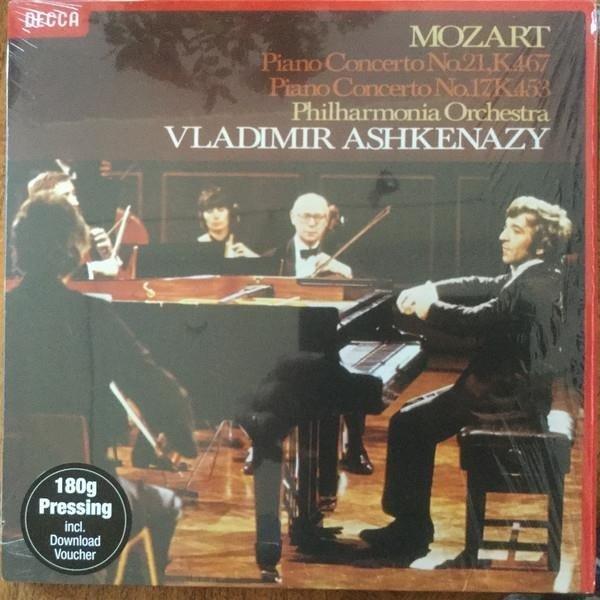 VLADIMIR ASHKENAZY Mozart Piano Concertos 17 & 21 LP