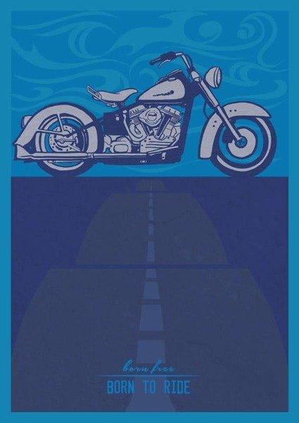 Vintage Harley PLAKAT